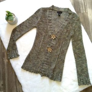 BCBGMAXAZRIA Green Knit Cardigan